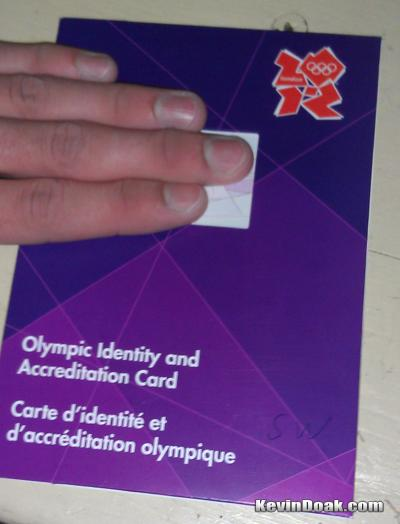 2012 Olympic Credentials Rolling Out!
