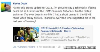 2012 USMS Summer Nationals Meet Recap